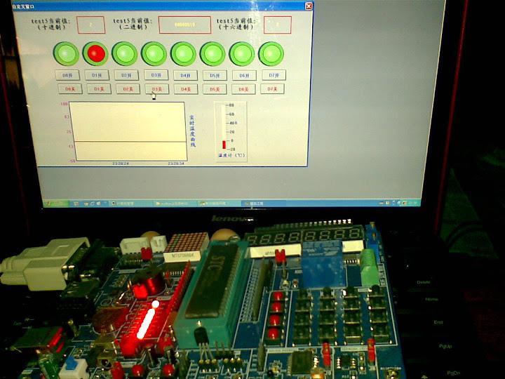 MCGS控制单片机开发板调试画面
