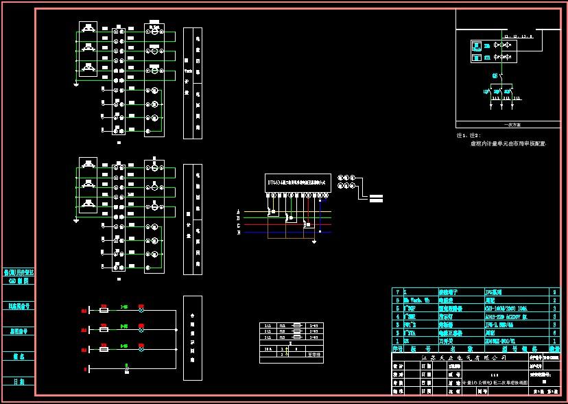 三相四线电能表和计量互感器二次接线图 3,合闸指示回路 计量柜二次